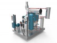 moteur de valorisation de chaleur fatale industrielle permettant la production simultanée de chaleur utile et d'air comprimé ou d'électricité.
